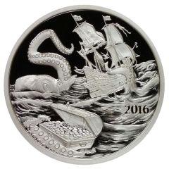 Silverbug Island Kraken 1 oz Silver Proof
