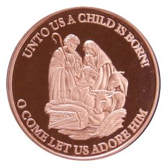 Nativity Scene 1 oz Copper Round - Osborne Mint