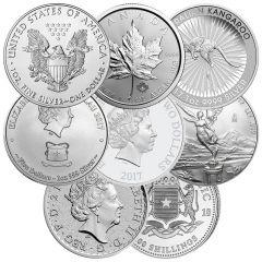 1 oz Silver Coins - Random Design