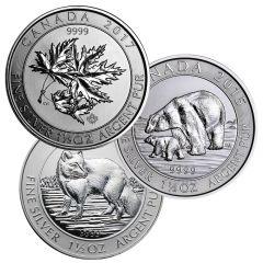 1.5 oz Royal Canadian Mint Silver Coins - Random Design