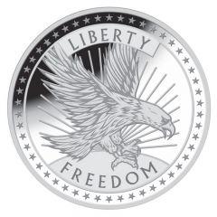 1 oz SD Bullion Silver Freedom Round