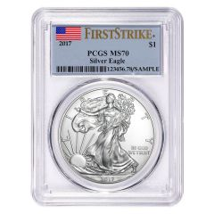 2017 PCGS MS-70 First Strike American Silver Eagle