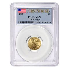 2017 1/10 oz PCGS MS-70 First Strike Gold American Eagle