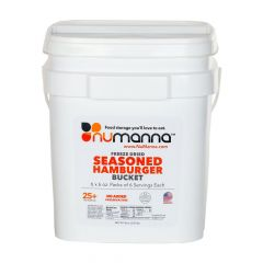 NuManna Food Storage Freeze Dried Seasoned Beef Bucket - 36 Serving