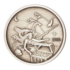 Silverbug Island Mermaid 1 oz Silver Proof Antiqued Finish - Mintage of 2,000