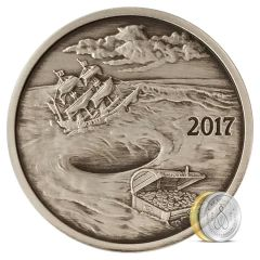 Silverbug Island Whirlpool 1 oz Silver Proof Antiqued Finish - Mintage of 2,000