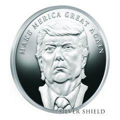 2017 Silver Shield Make Merica Great Again MicroMintage 1 oz Trump Proof