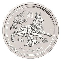 2018 Australian Lunar Year of the Dog Silver Coin 1 Kilo