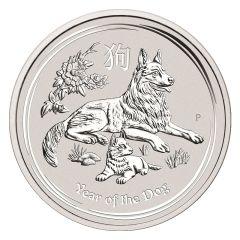 2018 Australian Lunar Year of the Dog Silver Coin 5 oz