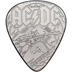 2019 1/4 oz AC/DC Plug Me In Silver Guitar Pick