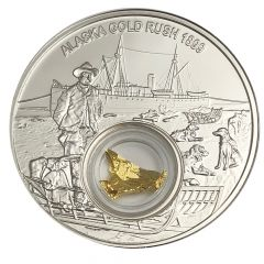 2018 Alaska Gold Rush Proof Silver Coin 1 oz