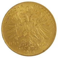 1915 Austrian Gold 100 Corona BU (Restrike)