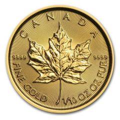 1/10 oz Canadian Gold Maple Leaf Coin - Random Year
