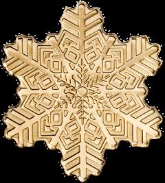 1/2 Gram $5 Golden Snowflake Gold Coin