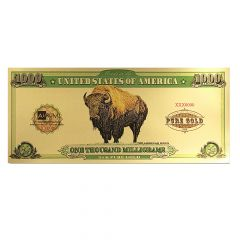 1 Gram Aurum Gold Buffalo Note (24K)