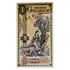 Gold Aurum Utah 1 Goldback Note (24K)