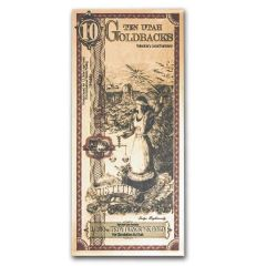 Gold Aurum Utah 10 Goldback Note (24K)