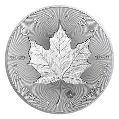 2019 Canadian Silver Incuse Maple Leaf Coin BU