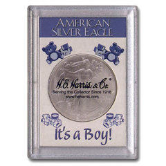 Perma Lock Case for American Silver Eagle - It's a Boy!