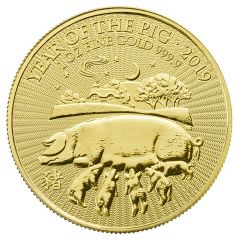 2019 British Mint Lunar Year of the Pig Gold Coin 1 oz