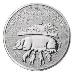 2019 British Mint Lunar Year of the Pig Silver Coin 1 oz