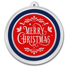 1 oz Silver Holiday Round - Merry Christmas