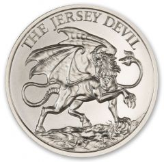 2 oz New Jersey Devil Silver Round