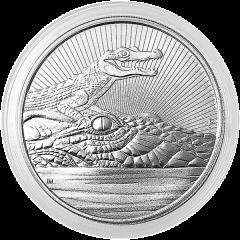 2019 Perth Mint Crocodile Silver Coin 2 oz - Next Generation Series