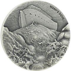 2018 2 oz Noah's Dove Biblical Silver Coin Series