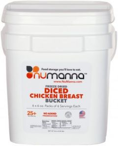 NuManna Freeze Dried Diced Chicken Breast | 36 Servings