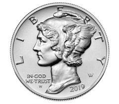 2019-W 1 oz American Palladium Eagle Reverse Proof Coin