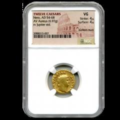 Twelve Caesars Gold Nero AD 54-68 AV Aureus - NGC VG