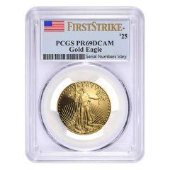 1/2 oz PCGS PF-69 American Gold Eagle Proof Coin - Random Year