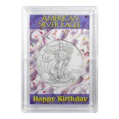 Perma Lock Case for American Silver Eagle - Happy Birthday