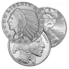 1/10 oz Silver Rounds - Generic