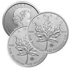 1 oz Canadian Palladium Maple Leaf Coin - Random Year