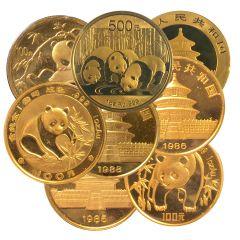 1 oz Chinese Gold Panda Coins - Random Year