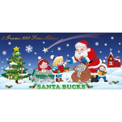 SD Bullion Santa Bucks 5 Gram Silver Foil
