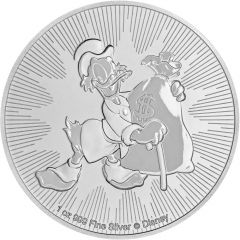 2018 Disney Niue Scrooge McDuck Silver Coin 1 oz