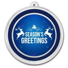 1 oz Silver Holiday Round - Season's Greetings