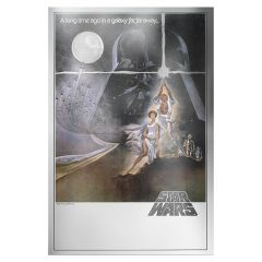 Star Wars A New Hope 35g Silver Premium Foil - Movie Poster