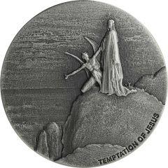 2018 2 oz Temptation of Jesus Biblical Silver Coin Series