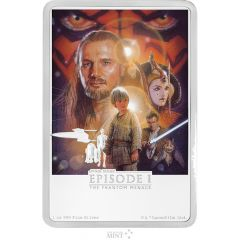 Star Wars The Phantom Menace 1 oz Silver Movie Poster Proof