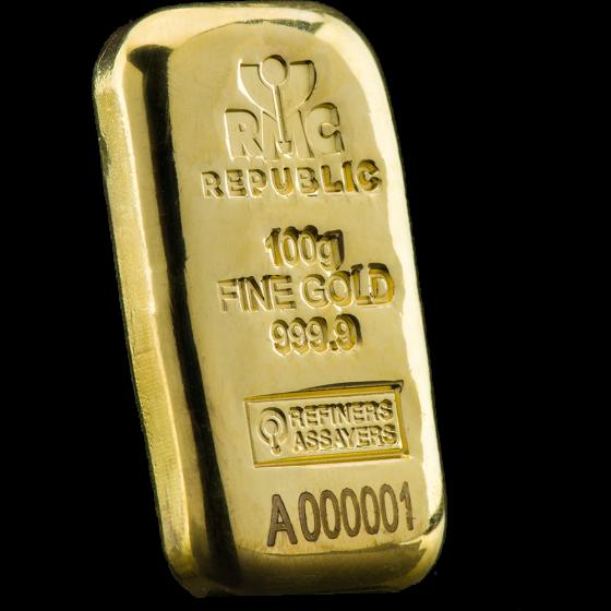 100 Gram Gold Bars Generic
