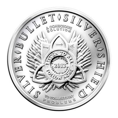 "2013 SILVER BULLET SILVER SHIELD  /""FREEDOM GIRL/"" 1 OZ SILVER .999 ROUND"