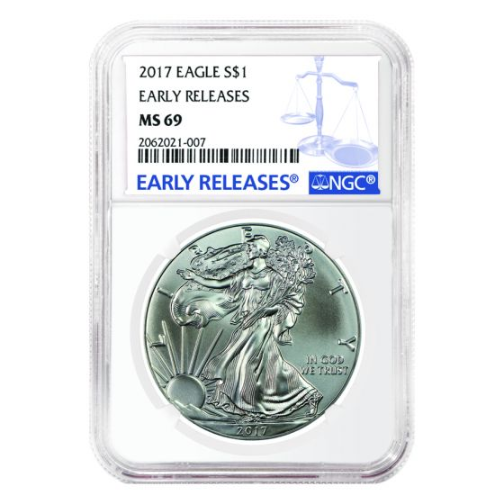 Early Releases W 2017- American Silver Eagle NGC MS69