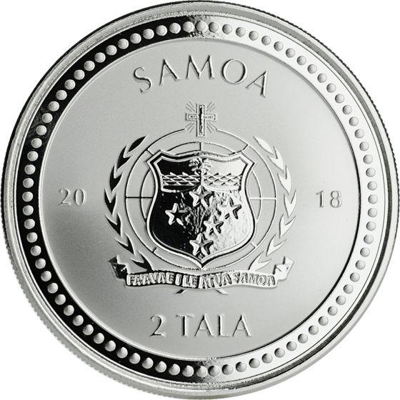 5 Coin Pack 2018 Samoa Silver Seahorse 1 oz