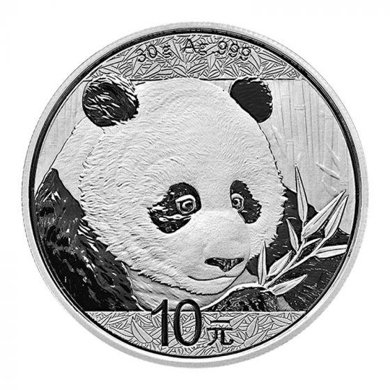 2017 China Silver Panda 30g 10 Yuan BU Coin in Capsule from 15 Coin Mint Case