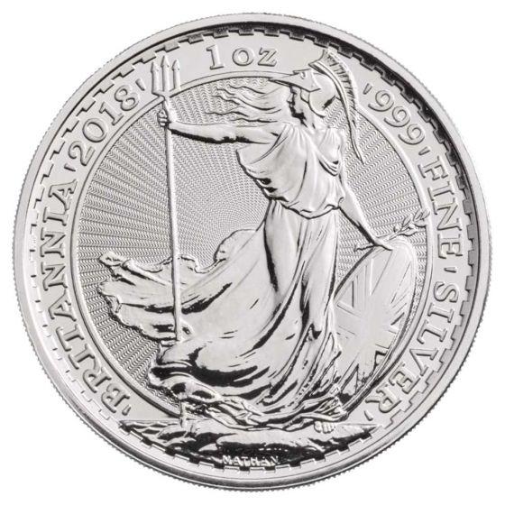 2018 Great Britain 1 oz Silver Britannia Coin IN AIR TITE CAPSULE