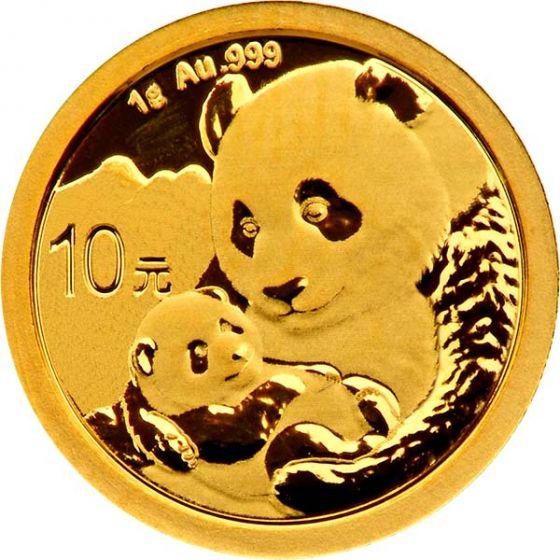 2019 1 Gram Chinese Gold Panda Coin
